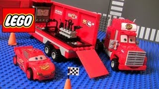 Cars 2 Lego Mack's Team Truck 8486 Complete Blocks Assembly Disney Pixar Lightning McQueen