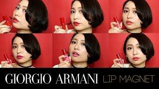 Giorgio Armani Lip MAGNET 霧面空氣唇露(小胖瓶)│6 色試色+心得分享