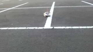 仙台市にあるグランディ21の駐車場にて。