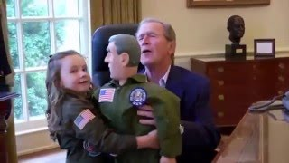 Macey From Ellen Show Meets Greatest Living President