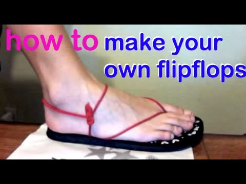 How to Make Fitted Sandals from Old flip flops
