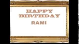 happy birthday Rami with love