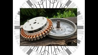 How to rewire/rebuild a washing machine motor to build a generator or brushless motor