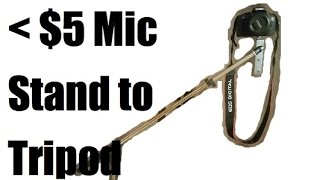 Turn Microphone Stand into DIY Camera Tripod For Under $5