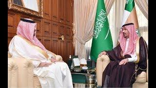 الأمير خالد بن عياف وزير الحرس الوطني يستقبل سفير مملكة البحرين لدى المملكة الشيخ حمود آل خليفة