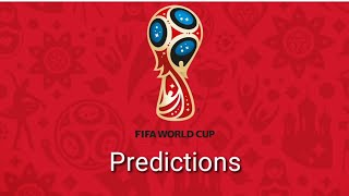 FIFA 2018 World Cup Russia Predictions