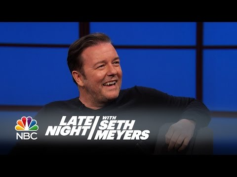 Ricky Gervais Has Beef with Louis CK Late Night with Seth Meyers