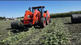 Corn silage bales 2016