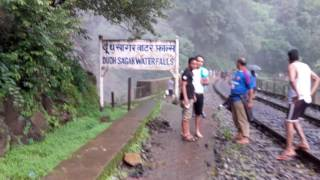 Latest Video of Dudhsagar Water Falls, Goa 3rd July 2016