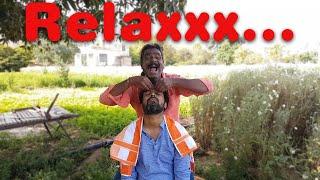 Cosmic Barber Head Massage in Flower Farm | Travel Series Video 09