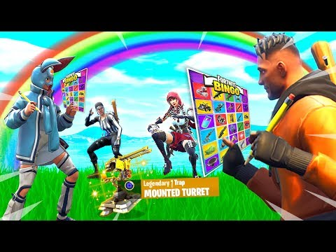 FORTNITE 2v2 RAINBOW BATTLE BINGO CHALLENGE