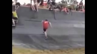 Gordo subindo a rampa