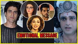 Tv Stars Emotional Message on Gagan Kang And Arjit Lavania