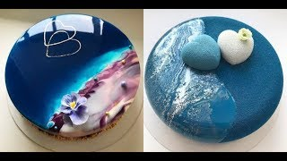 MOST SATISFYING MIRROR GLAZE CAKE DECORATING COMPILATION| #CakesDecorating Tehniques
