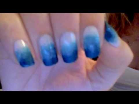 Como fazer unha Degrade Ombre Gradient Nail art