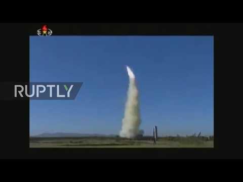 North Korea: Kim Jong-un oversees missile test launch