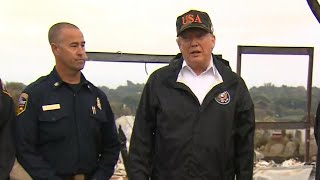 Trump Surveys Fire Damage In Malibu | NBC News