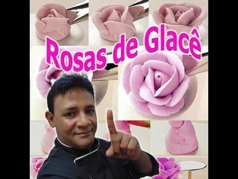 Rosa de Glacê Real com durabilidade de 6 meses confeitaria Online