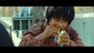 The Flu (Korean Movie) scene where the child Mirre meets