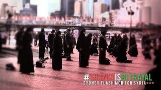 فلاش موب سوري في استراليا يحاكي معانات الشعب السوري Flash mob,,  HD
