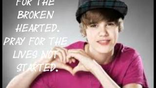 Pray- Justin Bieber (Lyrics)
