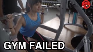 SEXY GIRL GYM FAILED PART ONE !!! ( WORKOUT MOTIVATION FAILED )