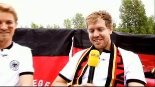 Sebastian Vettel vs Nico Rosberg - The totally crazy World Cup duel!