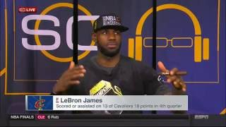 LeBron James interview on SportsCenter after Cavs win NBA championship