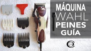 Máquina de Cortar Pelo Wahl: Peines Guía, partes y Advertencias