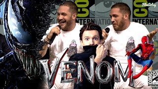 VENOM: Tom Hardy Makes Fun of Tom Holland - Spider-Man vs. Venom | SDCC 2018 Highlights | Q&A