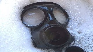 How to easily clean a Gas Mask/Respirator