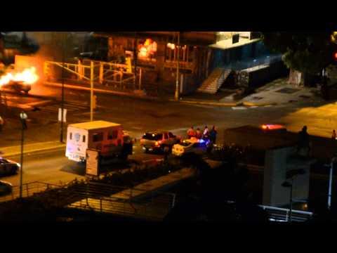 Reportan tiroteo y explosión de vehículo en Los Dos Caminos