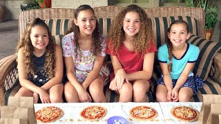 The Pizza Challenge!  (Haschak Sisters)