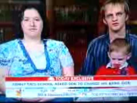 Kid Punches Mom's Big Tits On TV!!