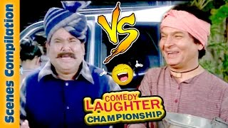 Asrani Comedy Scenes Vs  Satish Kaushik Comedy Scenes {HD} - 2 - Comedy Laughter Championship