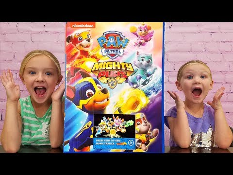 Opening All New Paw Patrol Mighty Pups Toys