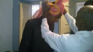 खुद को  साफ़ा  / पगड़ी बांधने (बांधणे ) का तरीका 2 How to wrap tie (to self) Safa / Turban / Pagadi
