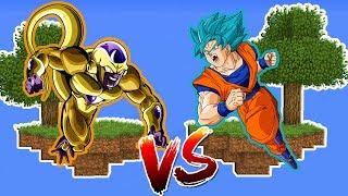 ILHA DO FREEZA DOURADO VS ILHA DO GOKU SUPER SAIYAJIN BLUE no MINECRAFT !! (DRAGON BALL SUPER)