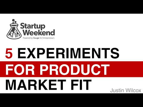 5 Experiments to Find Product-Market Fit w/ Startup Weekend