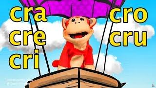 Sílabas cra cre cri cro cru - El Mono Sílabo - Videos Infantiles - Educación para Niños #