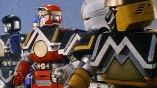 Shogun Zords and Shogun Megazord First Scene and Battle (Mighty Morphin Power Rangers) - Debut