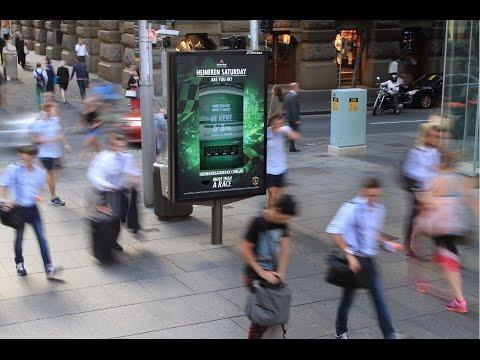 Heineken challenges pedestrians to give their all for F1 tickets   JCDecaux Australia