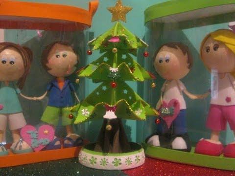 NUEVO Christmas Tree Arbolito De Navidad Fofucho 3D Foamy Artfoamicol Fofuchas Navideñas Moldes.AVI