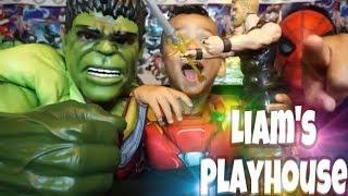 Marvel Avengers Infinity War Titan Hero Toys Battle between Liam and Dad
