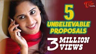 5 Unbelievable Proposals | Latest Tamil Short Film 2016 | By Chakradhar Reddy B | #TamilShortFilms
