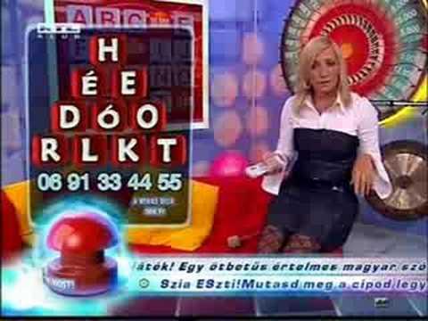 Valko Eszter shows stockings