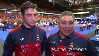 Introducing ANGEL and PABLO ARENAS, father and son in the Karate European Championships