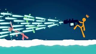 EXTREME ICE GUN STICK FIGHT! (Stick Fight #5)