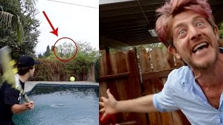 DESTROYING HIS $1000 DRONE!!