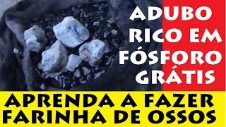 FARINHA DE OSSOS CASEIRA, adubo rico em fósforo e cálcio!